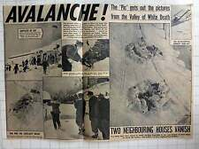 1954 60 People Die In Austria Valley Avalanche, Village Of Blons