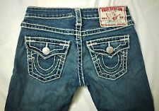 TRUE RELIGION JOEY SUPER T Low Rise Flare Stretch Womens Jeans size 24