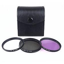Universal 67mm UV CPL FLD Filters + Case UK Seller