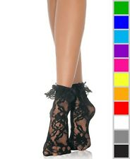 Women Lady Anklets Socks Lace Socks With Ruffle Top Selling UK