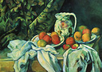 Still Life - Cezanne - Large A2 size 59.4x42cm Canvas Art Print Poster Unframed