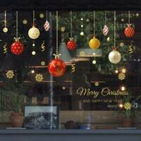 Home Diy Decor Window Snowflake Wall Stickers Xmas Elk Decal Santa Christmas