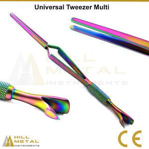 Multi Tweezers Set Of 4 & Universal Tweezer Eyebrow Tweezers Set Hair Remover