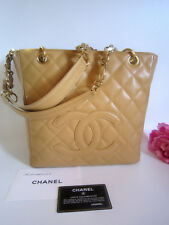 Chanel quilted handbag, caviar leather. Boxed. 100% auth.Chanel. Excellent cond.
