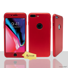 360° Hard Case/Cover Apple iPhone 5/5s/SE / Glass Screen Protector / Hot Pink