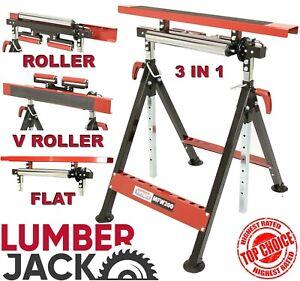 Multi Function Work Bench Mate Trestle Table V Roller Folding Stand Lumberjack