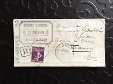France 1908 Enveloppe Publicitaire  Lettre Recommandée Courrier Reg Cover