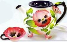 PANSY TEA-FOR-1 TEAPOT-Jeanette McCall-ICING ON THE CAKE - RETIRED - NIB
