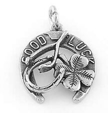 STERLING SILVER GOOD LUCK CHARM CHARM PENDANT