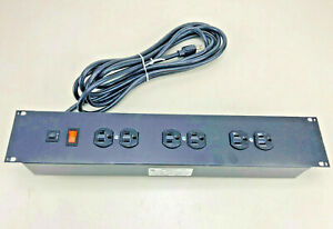 WABER 900CB-15 Rack Mount power strip / 6 outlets with on/off switch 15A NEW