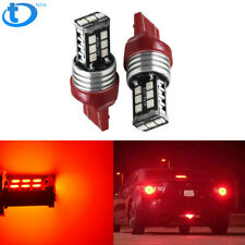 2x Red 7440 7443 LED Brake Stop Tail Brake Light Bulbs For Honda Civic CR-V