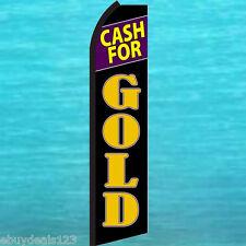 Cash For Gold Flutter Feather Flag Swooper Tall Vertical Advertising Sign Banner