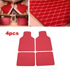 4x Universal Car Floor Mats Set Front Rear Liner Waterproof Non-slip PU Leather