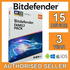 Bitdefender Family Pack 2021 15 devices 3 years FULL EDITION License Code