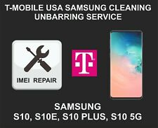 T-Mobile USA Cleaning, Unbarring Service for Samsung S10, S10 Plus, S10E, S10 5G