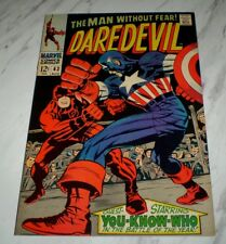 Daredevil #43 NM+ 9.6 OW pages 1968 Marvel Captain America cover
