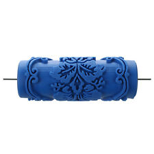 Paint Roller with decorative motifs for Machine Designs flowers / blue V1Y9