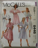 Vintage Dress Sewing Pattern*McCalls 8446*Size 18*UNCUT/FF*Plus Size*v-neck