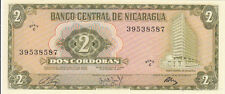 Billet banque NICARAGUA 2 CORDOBAS 1972 NEUF NEW UNC 587