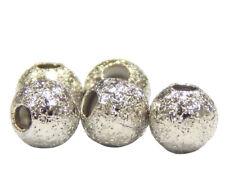 50 Metallperlen Zwischenteile Spacer Rund 4mm Stardus Silber Metall Schmuck M12