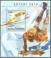 TOGO 2014 SOCHI WINTER OLYMPIC GAMES SOUVENIR SHEET  MINT NH