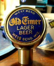 OLD TIMER LAGER BEER BALL TAP KNOB WEST BEND LITHIA BREWING CO WI - WISCONSIN