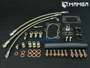 Mamba Turbo Install Line Kit For Nissan RB20DET Skyline R32 R33 GT2835 RB25DET