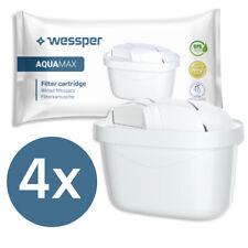4x Filterkartuschen von Wessper kompatibel mit Brita Maxtra+