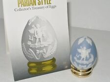 FRANKLIN MINT PARIAN STYLE PORCELAIN EGG WITH STAND AND BOOKLET