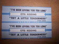 "2 Otis Redding I've Been Loving You Too Jukebox Title Strips CD 7"" 45RPM Records"