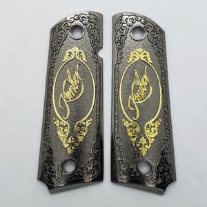 Custom Kimber 1911 Grips - Full Size - Government - Commander - black gold