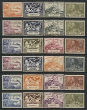 British Commonwealth 1949 UPU 6 Sets Mounted Mint