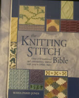 The Knitting Stitch Bible by Maria Parry-Jones-Over 250 Stitches- Easy Charts