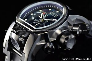 Invicta Men 52mm Bolt Zeus MAGNUM Black MOP Chrono Dual Time Swiss Watch
