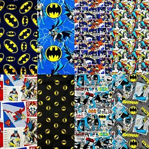 DC Comics Licensed Printed Fabric 100% Cotton Sheet Craft Material 110cm wide