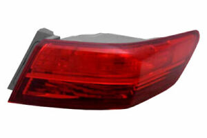 Outer Quarter Tail Light Rear Lamp Left Driver for 13-15 Acura ILX