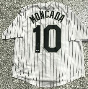 Chicago Yoan Moncada Signed Jersey White PSA DNA Autograph COA