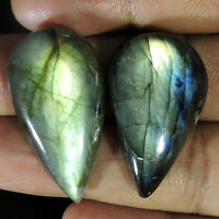 Pear Pcs Lot 100% Natural Fire Labradorite Pear Cabochon Loose Gemstone Lot