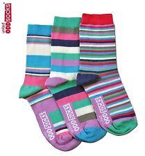 United Oddsocks Megan Size 4-8 UK Sock Womens Odd Stripe Bright Socks Mismatched