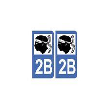 2B Corse autocollant plaque droits