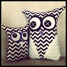 ❤️Handmade Owl Softies ❤️26cm Set | Black & White Chevron | Baby | Girls | Gifts