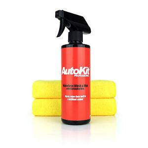 AutoKit Pro Waterless Car Wash & Carnauba Wax - Lightning Fast Cleaner No Grease