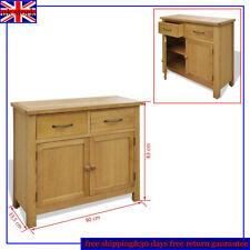 Solid Oak Wood Sideboard Storage Cabinet Cupboard 2 Doors 2 Drawers