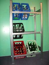 Getränkeregal ,Flaschenregal, Lagerregal ,Kistenregal , EXTRA-TIEF 44cm  wieBild