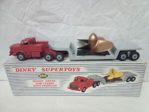 O104-DINKY #986 MIGHTY ANTAR LOW LOADER WITH PROPELLER IN ORIGINAL BOX