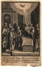 Jesucristo en el templo antiguo andachtsbild santos imagen grabado (o-7297