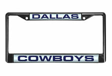 Dallas Cowboys Laser Cut Black Chrome Metal License Plate Frame