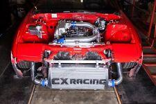 "CXR 31""x11""x3"" FMIC Intercooler Kit + BOV For S13 S14 240SX RB20/RB25DET Blue"