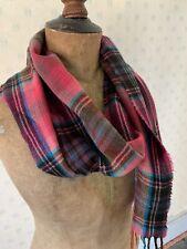 Pink Tartan Plaid Check Soft Wool Scarf By East