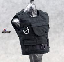 """Black 1/6 Scale Tactical Vest Armor Accessories Fit 12"""" Action Figure"""